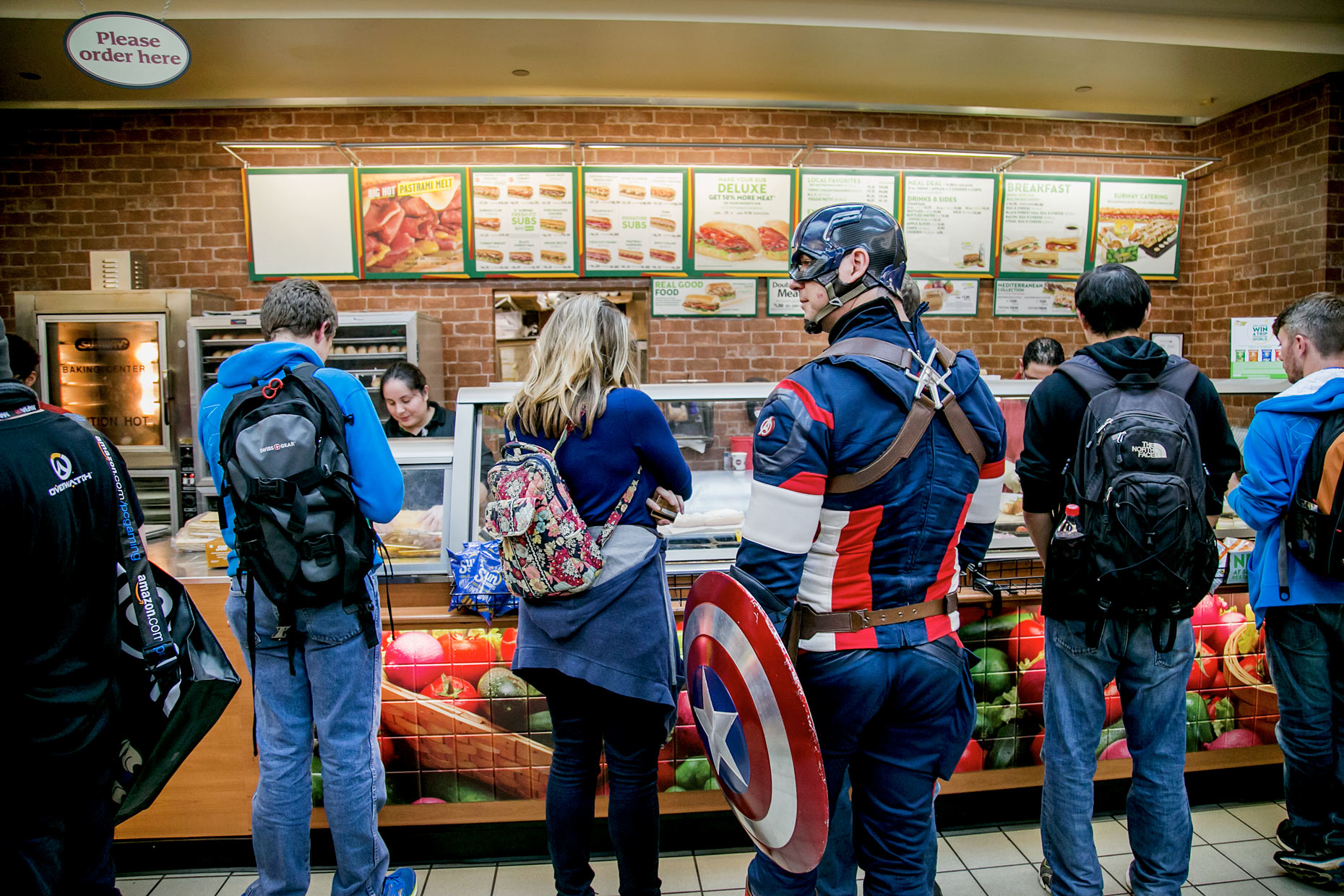 JOHNNY ANDREWS PHOTOGRAPHY : EDITORIAL :: Captain America at Subway